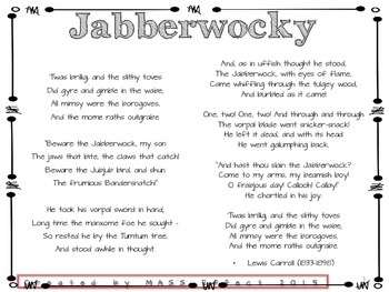 Poetry Made Engaging -The Jabberwocky