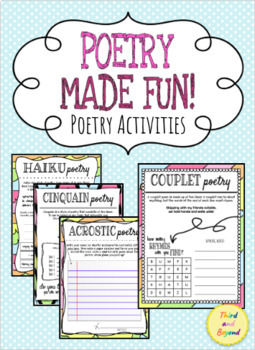 Poetry Made FUN! l Poetry Activities l 5 Styles of Poetry
