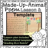 Creative Writing Poetry Made-Up-Animal Lesson, Templates a