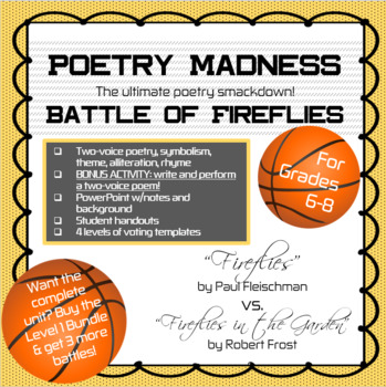 "Poetry Madness--Battle of Fireflies: ""Fireflies"" vs. ""Fireflies in the Garden"""