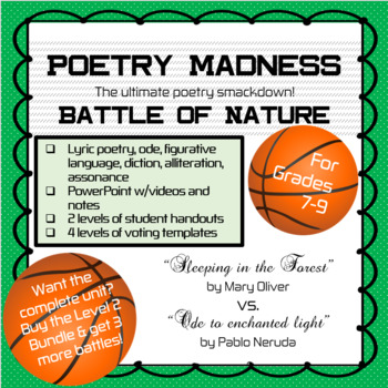 """Poetry Madness: """"Sleeping in the Forest"""" vs. """"Ode to enchanted light"""""""