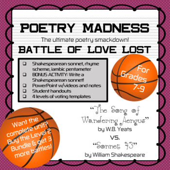 "Poetry Madness: ""The Song of Wandering Aengus"" vs. ""Sonnet 43"""