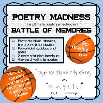 "Poetry Madness: ""maggie and milly and molly and may"" vs. ""who are you, little i"""
