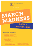 Poetry March Madness Tournament Printables