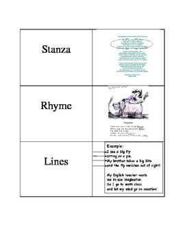 Poetry Matching Cards