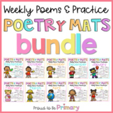 Poem of the Week Poetry Activity Mats Bundle