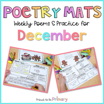 Poem of the Week Poetry Activity Mats for December