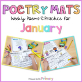 Poem of the Week Poetry Activity Mats for January