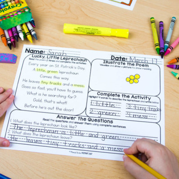 Poem of the Week Poetry Activity Mats for March
