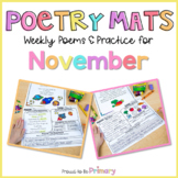 Poem of the Week Poetry Activity Mats for November