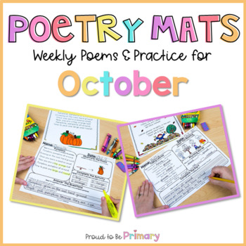 Poetry Mats for October