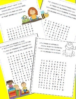 May Poetry, Word Searches, May Activities With Original Poetry