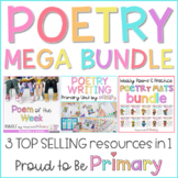Poetry Mega Bundle (Poem of the Week, Poetry Writing, & Poetry Mats)