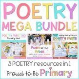 Poetry Mega Bundle | Poem of the Week, Poetry Writing, & Poetry Activities