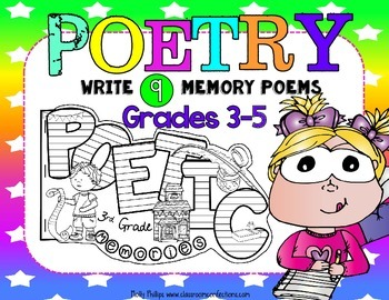 Poetry Month: End of Year Memory Book: 3rd Grade, 4th Grade, 5th Grade