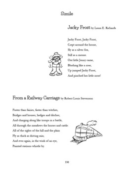Poetry: Mentor Poems for Teaching Poetry