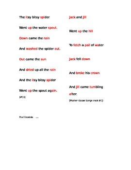 Poetry Meter in Nursery Rhymes