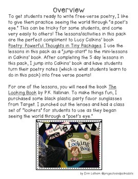 Poetry Mini-Pack: Seeing the World in Fresh New Ways!
