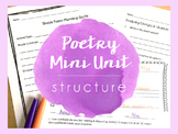 Poetry Mini Unit - Structure