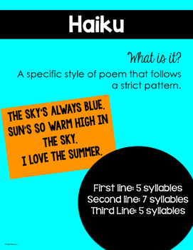 Poetry Mini Unit {Figurative Language Posters Included}