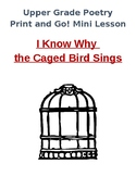 Poetry Mini-Unit I Know Why the Caged Bird Sings (Print and Go!)