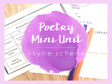 Poetry Mini Unit - Rhyme Scheme