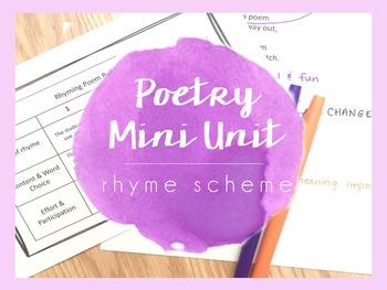 Poetry Mini Unit - Rhyme Scheme
