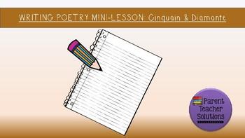 Poetry Minilesson - Cinquain & Diamante