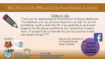 Poetry Minilesson - Personification & Sensory