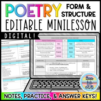 Poetry Minilesson: Structure & Form