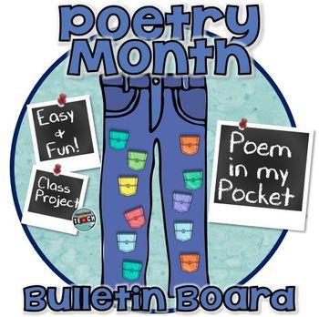 Poetry Month - Poem in My Pocket - Poetry Bulletin Board