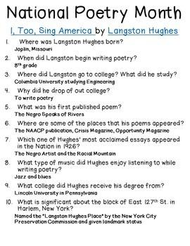 Poetry Month Webquest