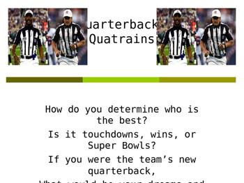 Poetry Motivators: Football And Quarterbacks
