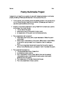 Poetry Multimedia Project