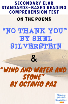 Poetry No Thank You & Wind and Water and Stone MC Reading Analysis Test