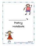 Poetry Notebook Cover, Activity Sheets, and Teacher Tips