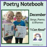 Poetry Notebook: December Songs, Poems, and Rhymes