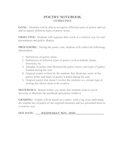 Poetry Notebook Guidelines