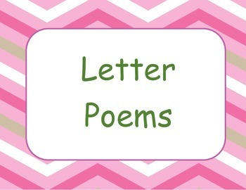 Poetry Notebook - Letter of the Week