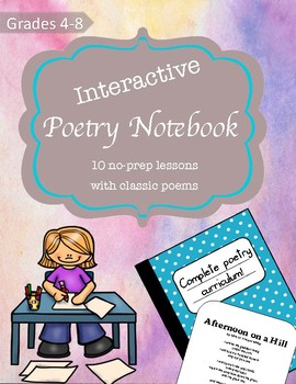Poetry Notebook- No Prep Complete Poetry Curriculum for Grades 4-8