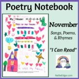 Poetry Notebook: November Songs, Poems, and Rhymes