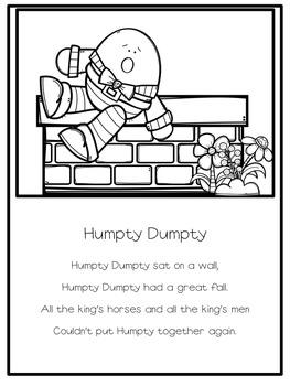 Poetry Notebook: Nursery Rhymes A-Z