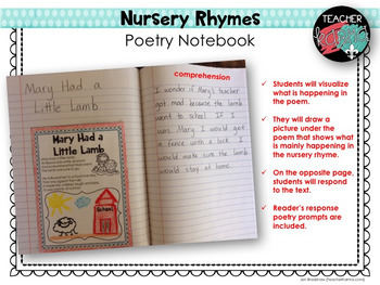 Poetry Notebook Nursery Rhymes FREE RESOURCE