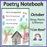 Poetry Notebook: October Songs, Poems, and Rhymes