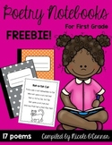 Poetry Notebooks for First Grade Freebie!