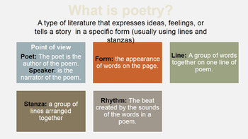 Poetry Notes w/ Short Poem Annotation and Analysis Activity