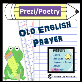 Poetry - Old English Prayer!