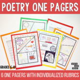 Poetry One Pagers, Use with Any Poem