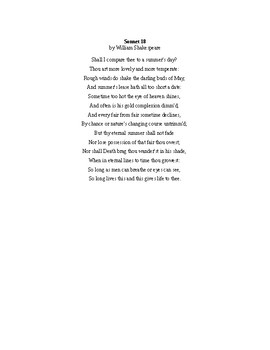 Poetry Opening Activity