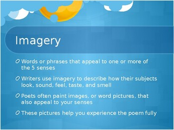 Poetry Elements: PPT